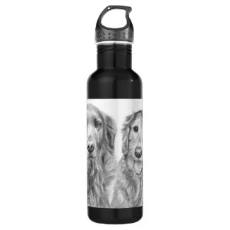 Golden Retrievers Fred and Baxter Stainless Steel Water Bottle