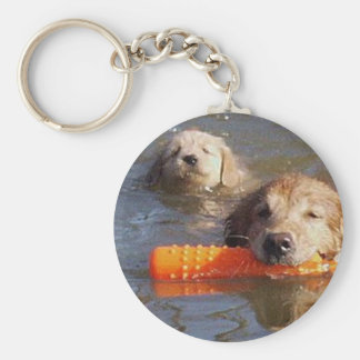 Golden Retrievers Keychain Adult And Puppy