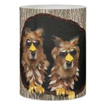 Golden Retrievers Owls Flameless Candle