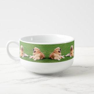 Golden retrievers soup mug