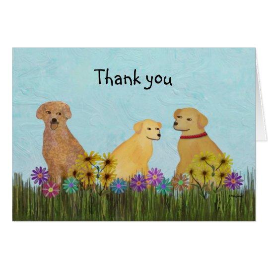 Golden Retrievers Thank You Cards