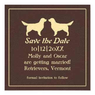 Golden Retrievers Wedding Save the Date Card