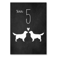 Golden Retrievers Wedding Table Card