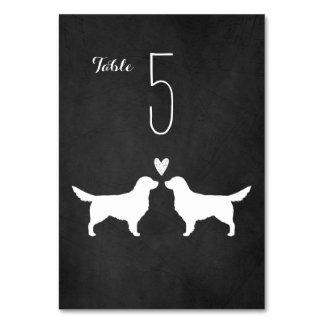 Golden Retrievers Wedding Table Card