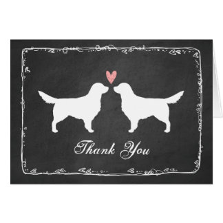 Golden Retrievers Wedding Thank You Stationery Note Card