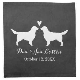Golden Retrievers Wedding with Custom Text Cloth Napkin