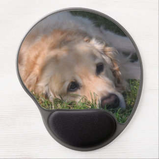 Golden Retriver Resting in the Grass Photo Gel Mouse Pad