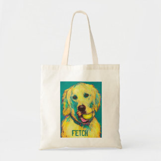 golden retriver tote bag