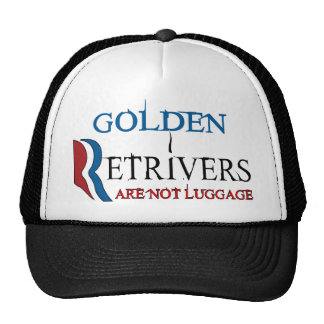 Golden Retrivers Are Not Luggage.png Mesh Hat