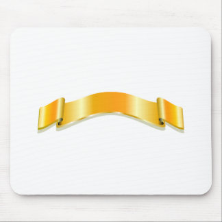 Golden Ribbon Mouse Pad