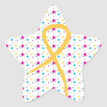 Golden Ribbon Stars Sticker