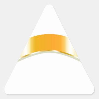 Golden Ribbon Triangle Sticker