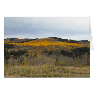 Golden Ridge of Aspen Card