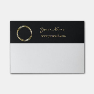 Golden Ring Set The Minimalist Black Gold LOGO Post-it® Notes