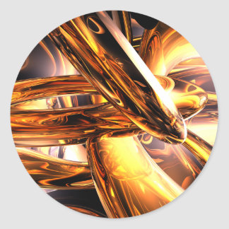 Golden Rings Abstract Sticker