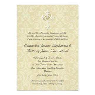 religious wedding invitations christian wedding invitations zazzle 7057