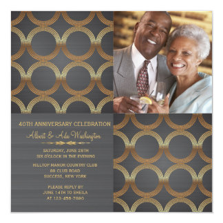 Golden Rings Photo Invitation