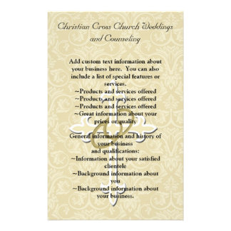 Golden Rings with Cross, Elegant Christian Love Flyer