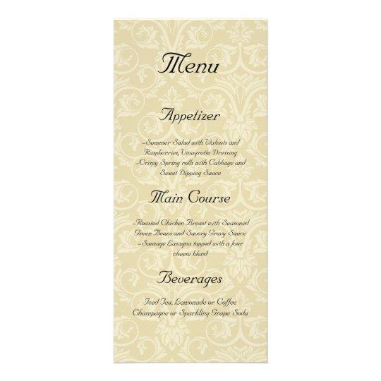 Golden Rings with Cross, Elegant Christian Love Rack Card