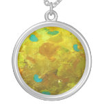 gold, turquoise, yellow, abstract, original