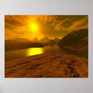 Golden River of Light Poster