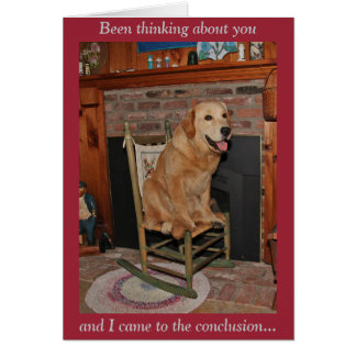 Golden Rocking Chair Thinking About You Card