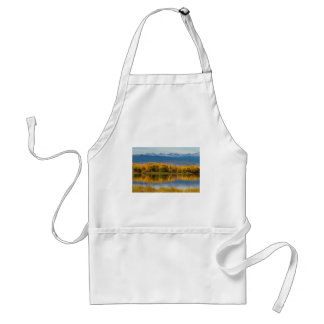 Golden Rocky Mountain Front Range View Adult Apron