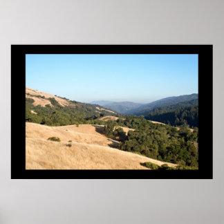 Golden Rolling Hills Poster