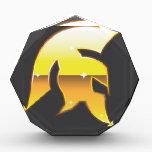 "Golden Roman Helmet Acrylic Award<br><div class=""desc"">Golden Roman Helmet</div>"