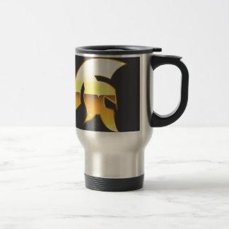 Golden Roman Helmet Travel Mug