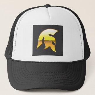 Golden Roman Helmet Trucker Hat