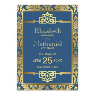 Golden Romance 1920s Art Deco Save the Date Card