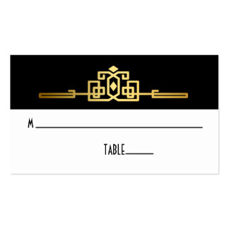 Golden Romance Art Deco Place Card Double-Sided Standard Business Cards (Pack Of 100)