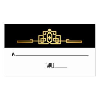 Golden Romance Art Deco Place Card Business Cards