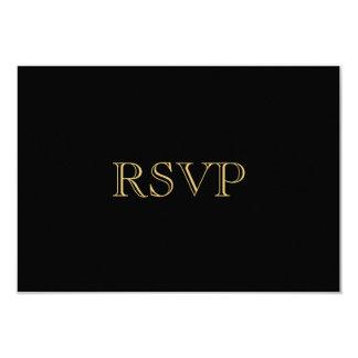 Golden Romance Art Deco RSVP Card