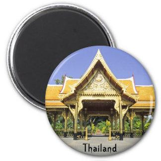 Golden Roof Pavilion Thailand 2 Inch Round Magnet