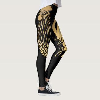 Golden Rooster Year 2017 Black Leggings
