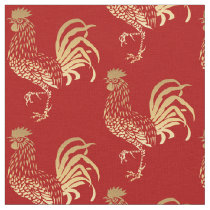 Golden Rooster Year 2017 fabric