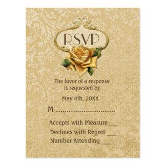 Golden Rose 50th Anniversary RSVP Postcard