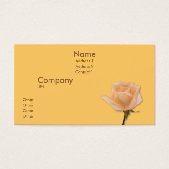 Golden Rose Business Card