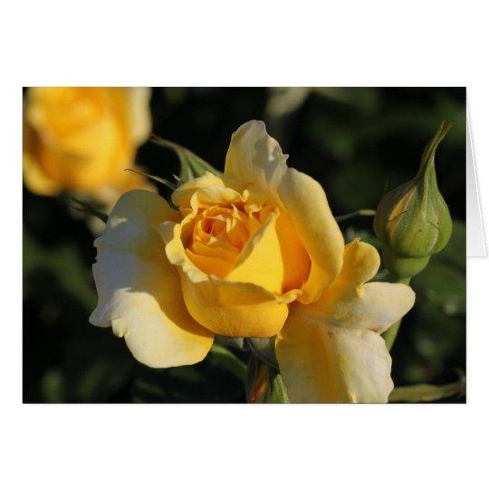 Golden Rose Card