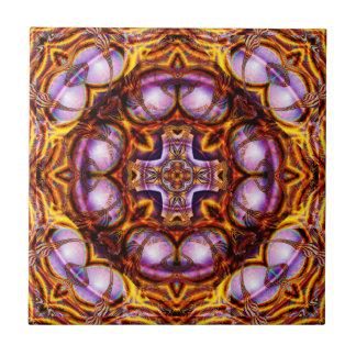 Golden Rose Cross  Ceramic Tile