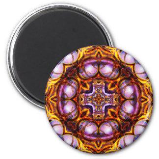 Golden Rose Cross  Magnet