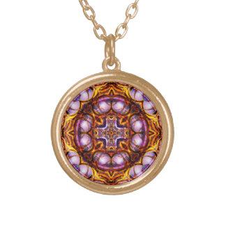 Golden Rose Cross  Necklace