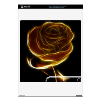 Golden Rose Designed with Vector Software Decals For The PS3 Slim