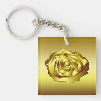 Golden Rose Keychain