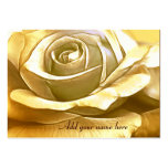 Golden Rose_ Large Business Cards (Pack Of 100)