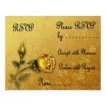 Golden Rose RSVP card Invitations