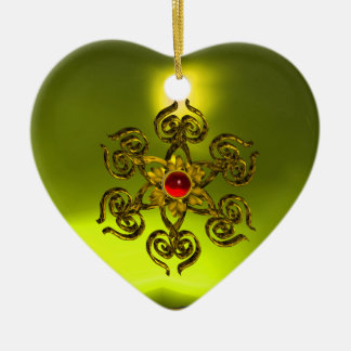 GOLDEN ROSE RUBY ,Yellow Topaz ,Purple Pink Ceramic Ornament