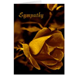 Golden Rose Sympathy Card